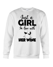just a girl in love with her wine Crewneck Sweatshirt thumbnail