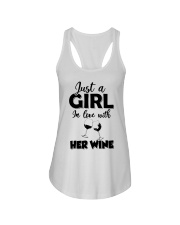 just a girl in love with her wine Ladies Flowy Tank thumbnail