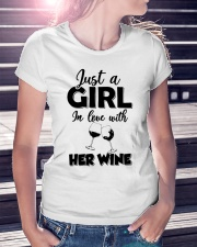 just a girl in love with her wine Ladies T-Shirt lifestyle-women-crewneck-front-7