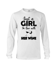 just a girl in love with her wine Long Sleeve Tee thumbnail