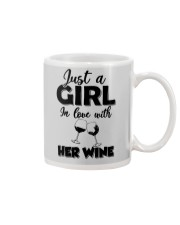 just a girl in love with her wine Mug thumbnail