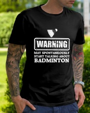 Talking About Badminton Classic T-Shirt lifestyle-mens-crewneck-front-7