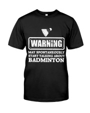 Talking About Badminton Premium Fit Mens Tee thumbnail