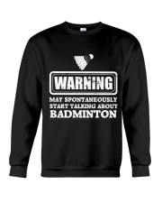 Talking About Badminton Crewneck Sweatshirt thumbnail