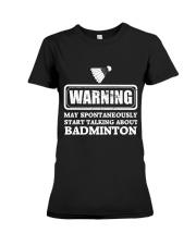 Talking About Badminton Premium Fit Ladies Tee thumbnail