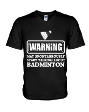 Talking About Badminton V-Neck T-Shirt thumbnail