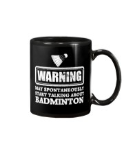 Talking About Badminton Mug thumbnail