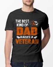 The Best Kind Of Dad Raises A Veteran Classic T-Shirt lifestyle-mens-crewneck-front-13