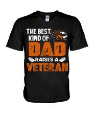 The Best Kind Of Dad Raises A Veteran V-Neck T-Shirt thumbnail