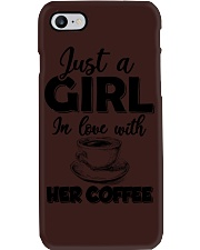 just a girl in love with her cofffee Phone Case thumbnail