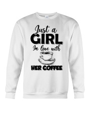 just a girl in love with her cofffee Crewneck Sweatshirt thumbnail