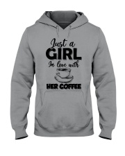just a girl in love with her cofffee Hooded Sweatshirt thumbnail