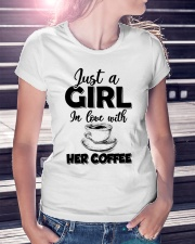 just a girl in love with her cofffee Ladies T-Shirt lifestyle-women-crewneck-front-7