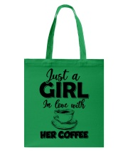 just a girl in love with her cofffee Tote Bag thumbnail