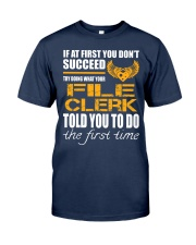 STICKER FILE CLERK Classic T-Shirt front