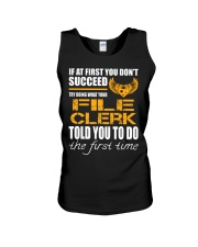STICKER FILE CLERK Unisex Tank tile