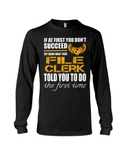 STICKER FILE CLERK Long Sleeve Tee tile