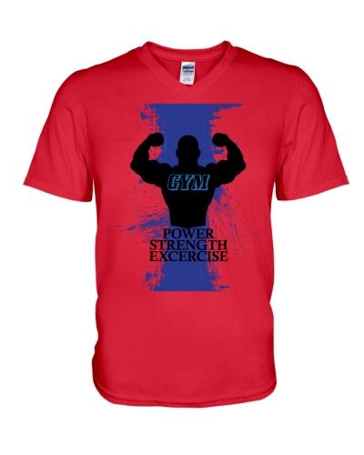 Gym Tshirt GYM Power Strength Exercercise