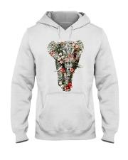 Flowered Elephant Hooded Sweatshirt thumbnail