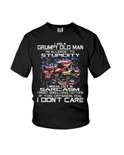I Am a Grumpy Old Man I Am Allergic To Stupidity Youth T-Shirt thumbnail
