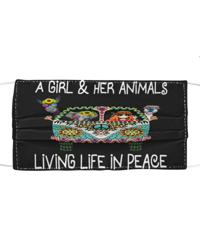 A Girl Her Animals iving Life In Peace Hippie
