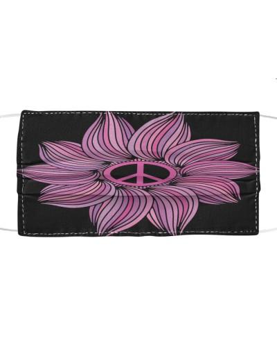 Flower Pink Hippie Face Mask