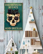 Easily Distracted By Cats And Skulls  11x17 Poster lifestyle-holiday-poster-2