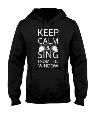 Keep calm and sing from the window