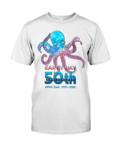 Earth Day 50th Anniversary Octopus Silhouette
