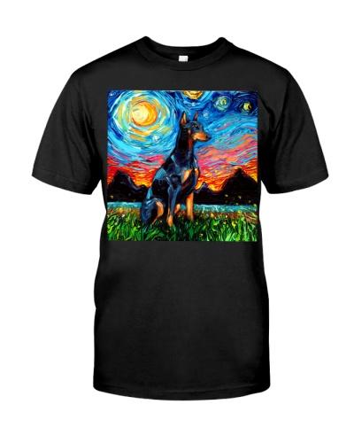 Doberman Starry Night