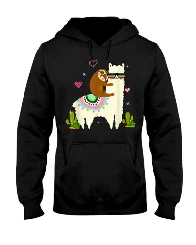 Sloth riding llama