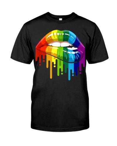 LGBT Rainbow Lip Gay Pride