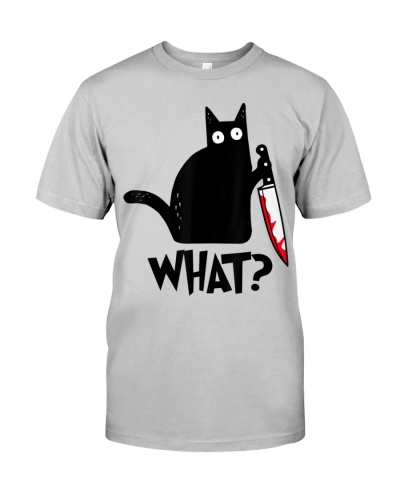 Cat What Black Cat Murderous Cat With Knife