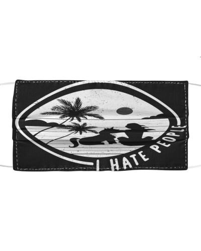 I Hate People Sunshine Unicorn Hippie Face Mask
