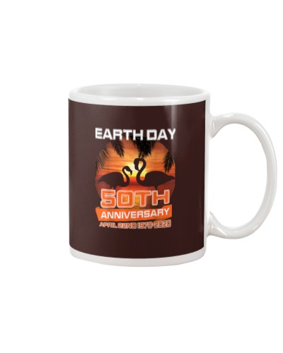 Earth Day 50th Anniversary Flamingos Sunset