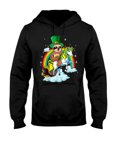St Patricks Day Sloth on a Unicorn Irish