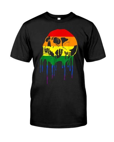 LGBT Rainbow Sugar Skull