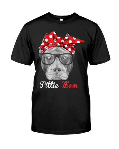 Pittie Mom Shirt for Pitbull Dog Lovers Mothers