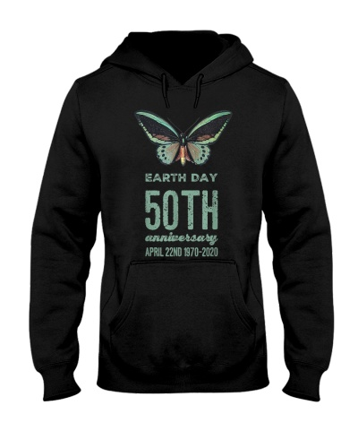 Earth Day 50th Anniversary 1970 2020 Butterfly