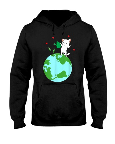 Plant a Tree Earth Day Cat