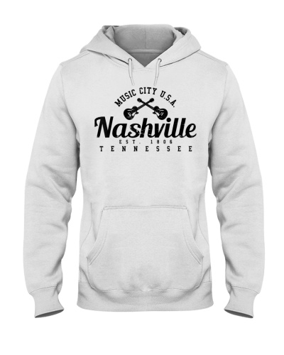 Guitar Tennessee Country Music City  White