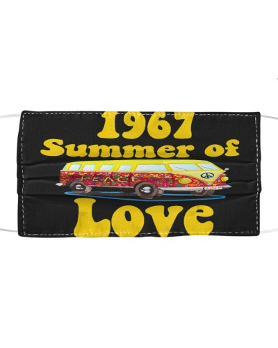 Summer of Love Hippie Car Face Mask
