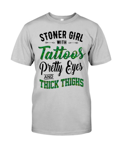 Stoner Girl With Tattoos Pretty Eyes And Thick