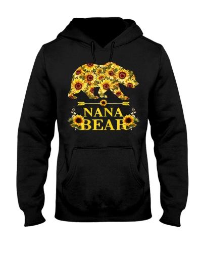 Womens Nana Bear Sunflower Hippie