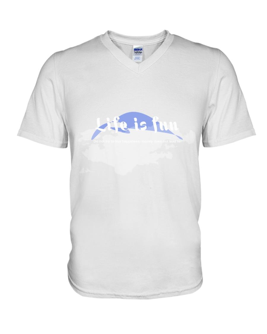 Together we draw a smile for the children of war V-Neck T-Shirt