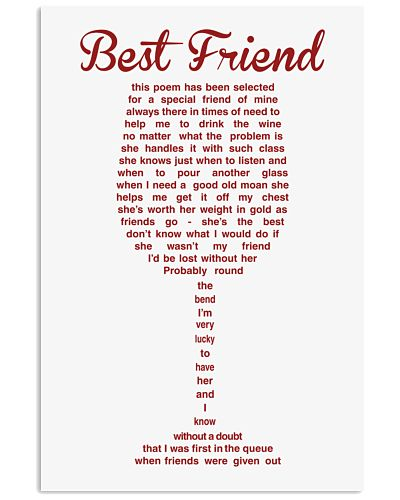 LIMITED EDITION - POSTER FOR BEST FRIEND