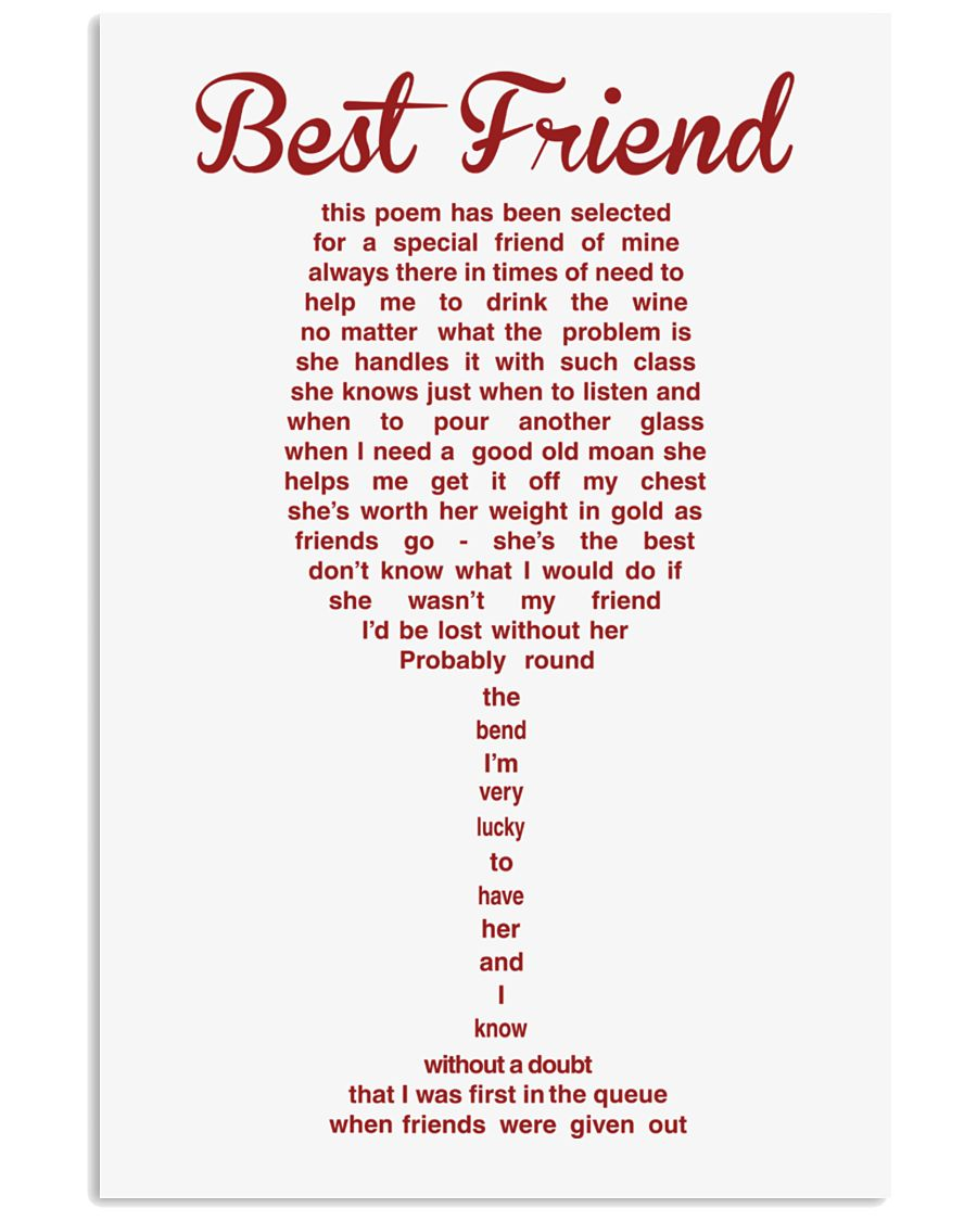 LIMITED EDITION - POSTER FOR BEST FRIEND 11x17 Poster