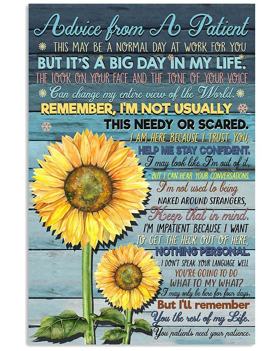 Advice from A Patient 11x17 Poster