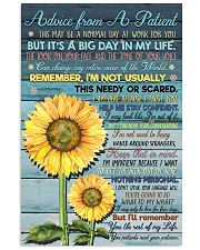 Advice from A Patient 11x17 Poster front