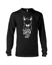 Mothers Day 2018 Shirt Gift Drama Llama Ding Dong Long Sleeve Tee thumbnail